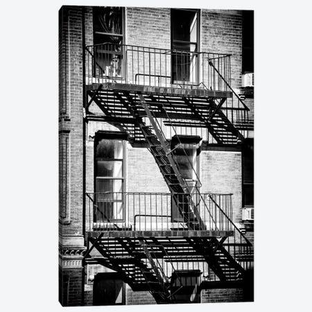 New York Fire Escape Canvas Print #PHD1227} by Philippe Hugonnard Canvas Wall Art