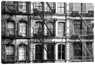 Three Facades Of Buildings Canvas Art Print
