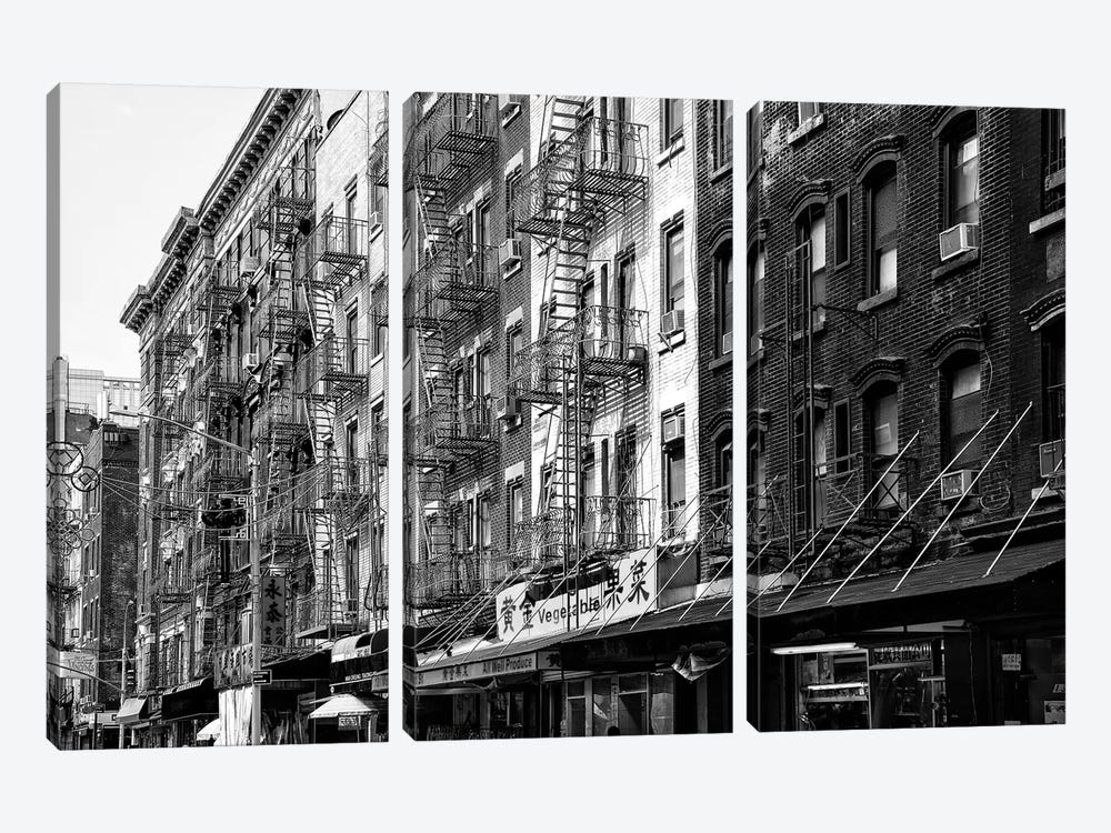 NYC Chinatown Buildings by Philippe Hugonnard 3-piece Canvas Art