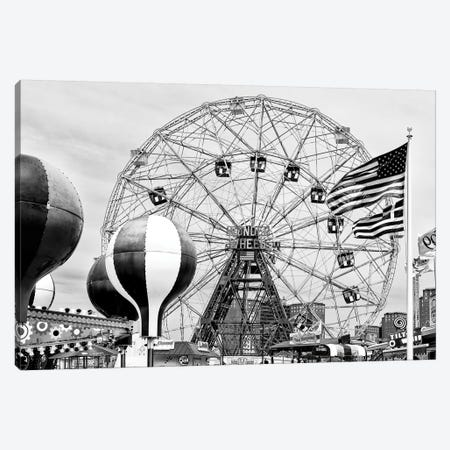 Wonder Wheel Coney Island Canvas Print #PHD1259} by Philippe Hugonnard Canvas Wall Art