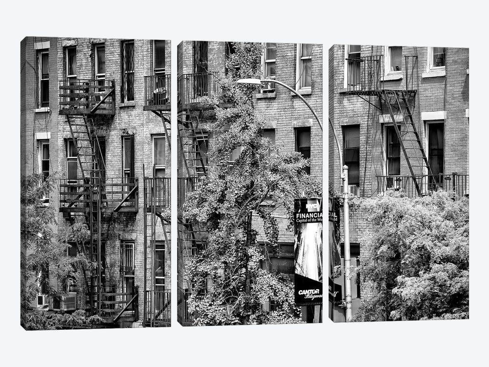 Building Facade New York by Philippe Hugonnard 3-piece Canvas Art