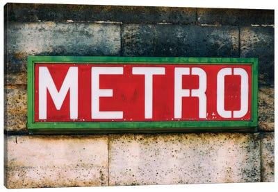 Paris Metro I Canvas Print #PHD126