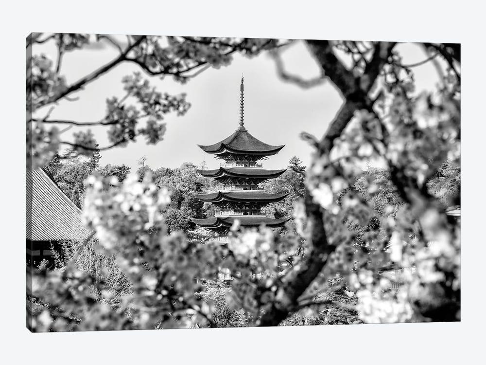 Pagoda Cherry Blossom by Philippe Hugonnard 1-piece Canvas Artwork