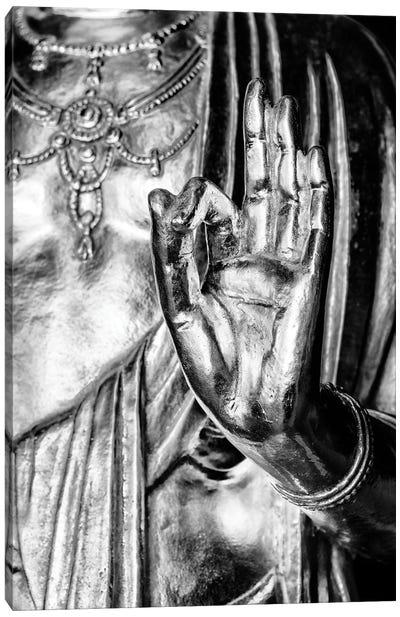 Golden Buddha Hand Canvas Art Print