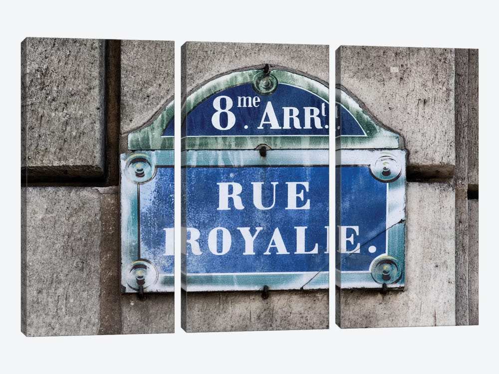 Rue Royale by Philippe Hugonnard 3-piece Canvas Artwork