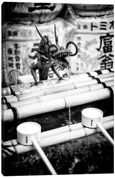 Japanese Temple Fountain Canvas Art Print