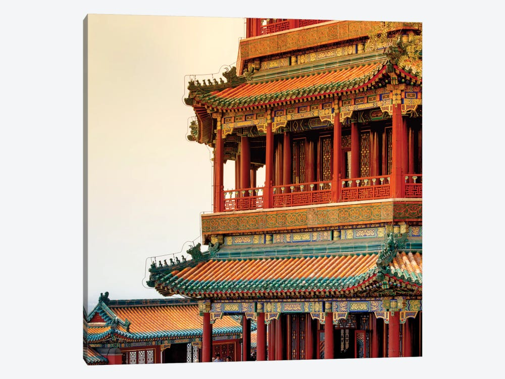 Sunset on the Temple by Philippe Hugonnard 1-piece Canvas Print