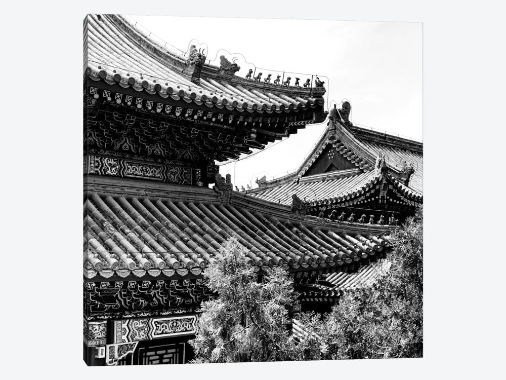 Temple Roofs by Philippe Hugonnard 1-piece Canvas Wall Art