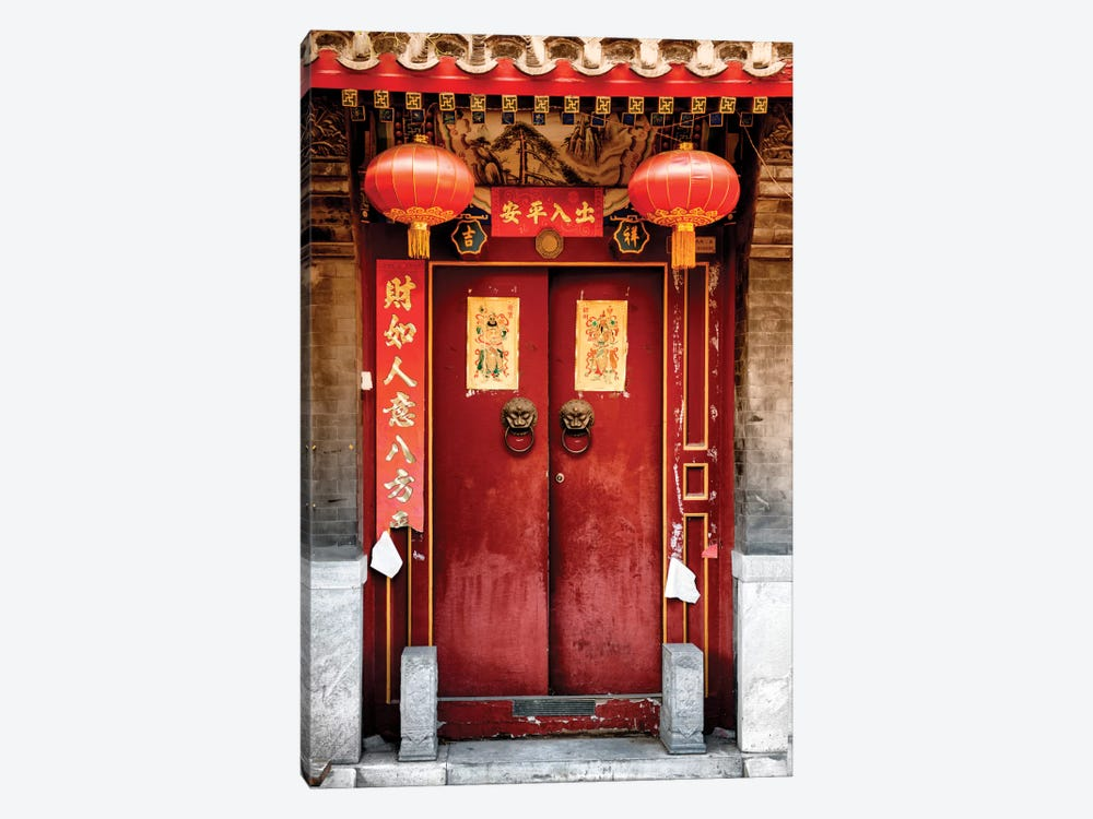 Traditional Red Door by Philippe Hugonnard 1-piece Art Print