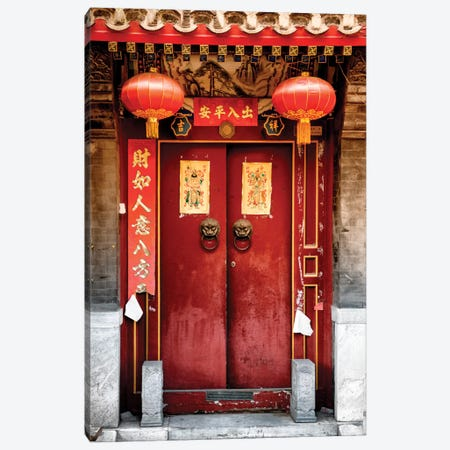 Traditional Red Door Canvas Print #PHD139} by Philippe Hugonnard Canvas Art