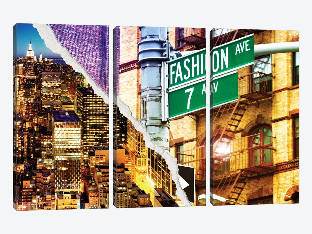 Fashion Avenue by Philippe Hugonnard 3-piece Canvas Artwork