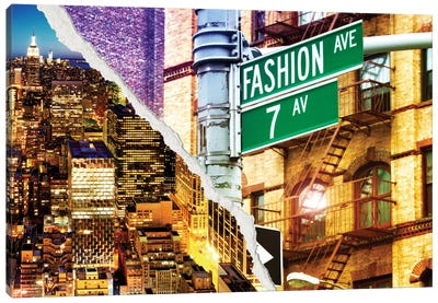 Dual Torn Series - Fashion Avenue Canvas Print #PHD13