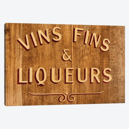 Vins Fins & Liqueurs Canvas Print #PHD140} by Philippe Hugonnard Canvas Art Print