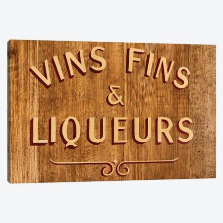 Vins Fins & Liqueurs Canvas Print #PHD140} by Philippe Hugonnard Canvas Art Print