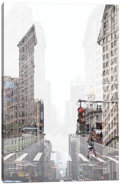 Urban Abstraction - Flatiron NYC Canvas Art Print