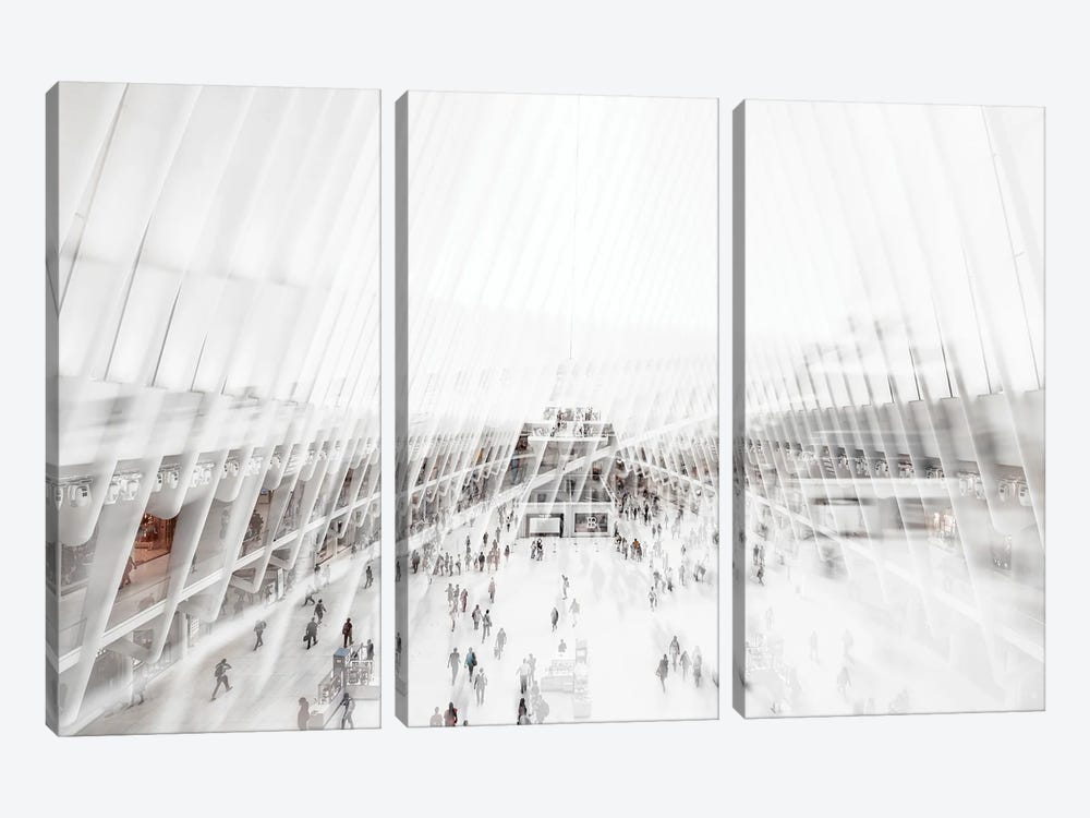 Urban Abstraction - Oculus by Philippe Hugonnard 3-piece Canvas Print