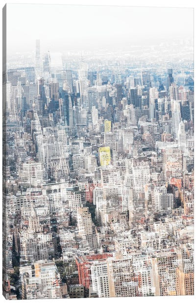 Urban Abstraction - NYC Downtown Canvas Art Print