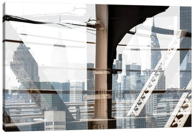 Urban Abstraction - Skyscrapers Canvas Art Print