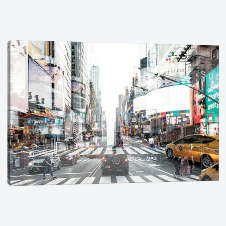 Urban Abstraction - Times Square Canvas Print #PHD1436} by Philippe Hugonnard Art Print