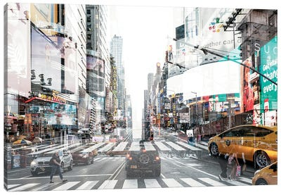 Urban Abstraction - Times Square Canvas Art Print