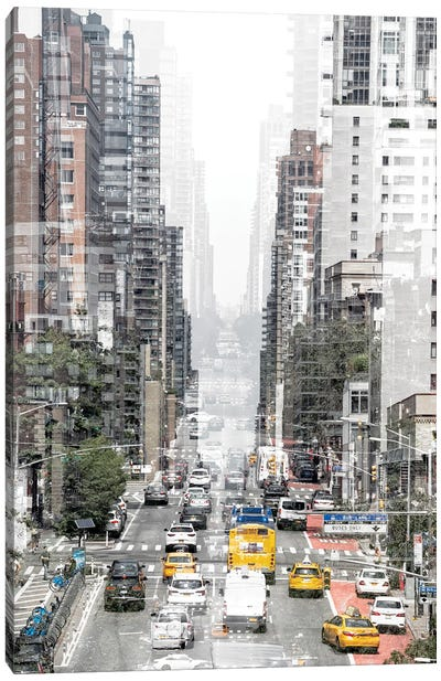 Urban Abstraction - Downtown Canvas Art Print