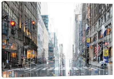 Urban Abstraction - Madison Avenue Canvas Art Print