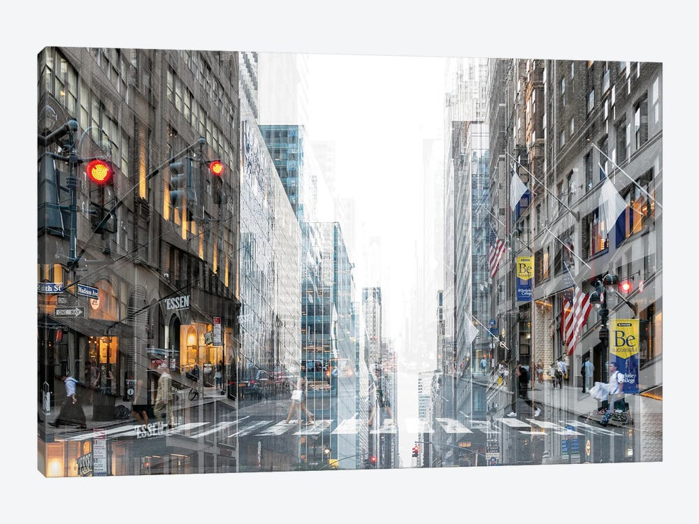 Urban Abstraction - Madison Avenue by Philippe Hugonnard 1-piece Canvas Art