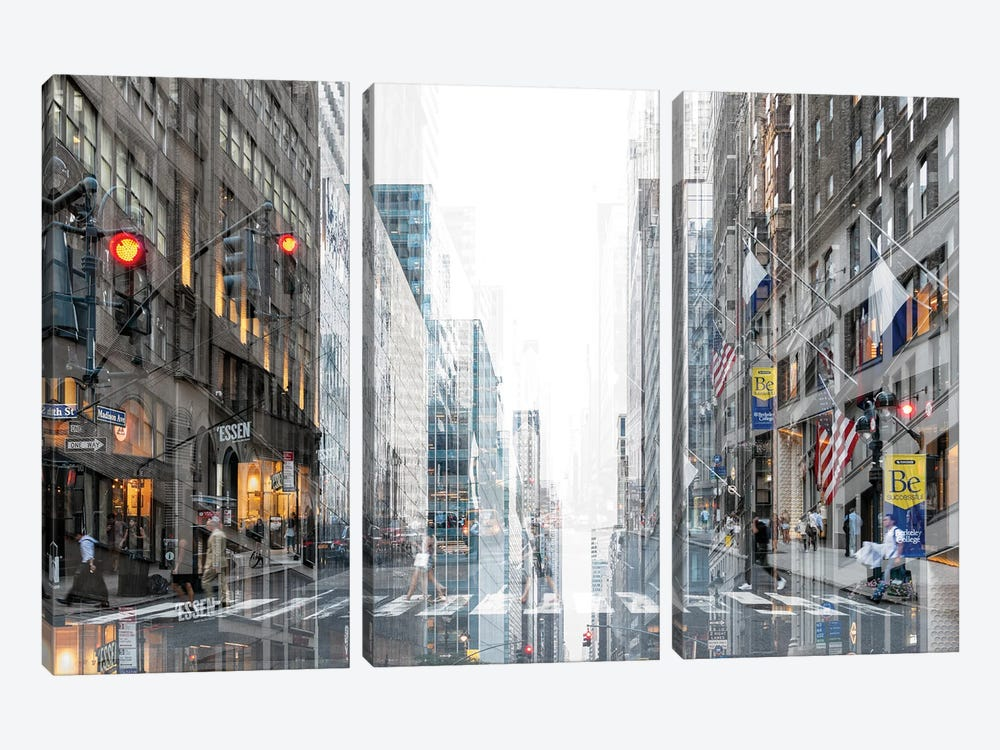 Urban Abstraction - Madison Avenue by Philippe Hugonnard 3-piece Canvas Artwork
