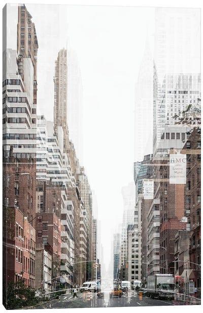 Urban Abstraction - New York City Canvas Art Print