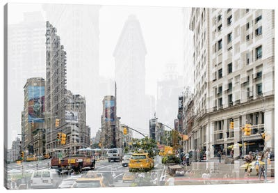 Urban Abstraction - 5th Ave Canvas Art Print