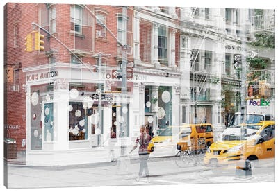 Urban Abstraction - NYC Style Canvas Art Print