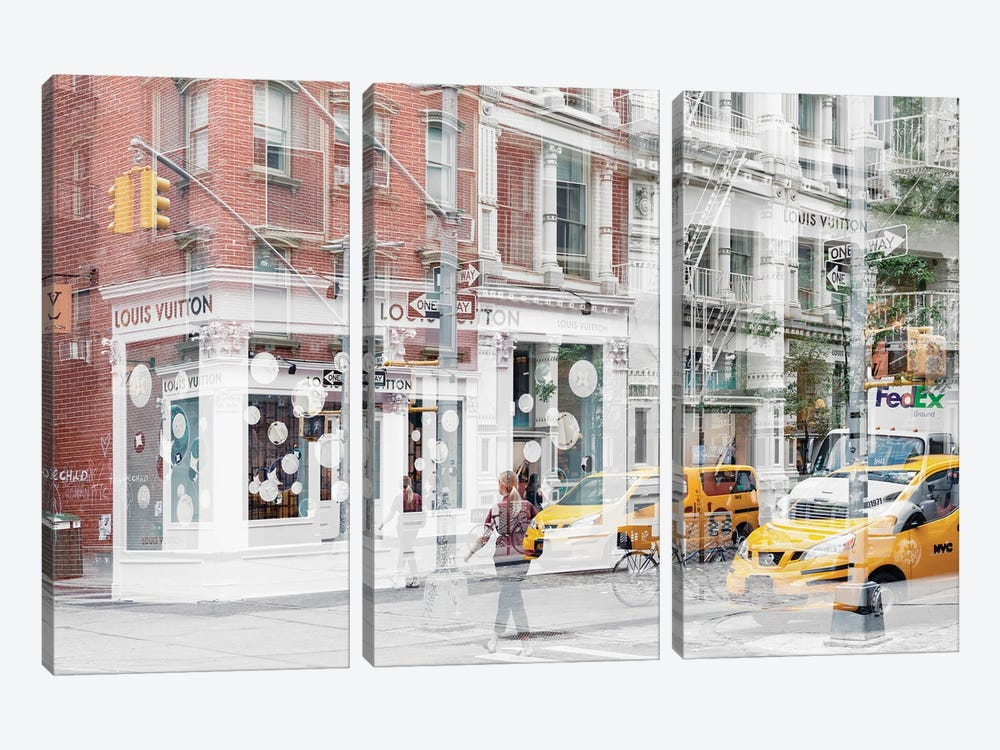 Urban Abstraction - NYC Style by Philippe Hugonnard 3-piece Canvas Art