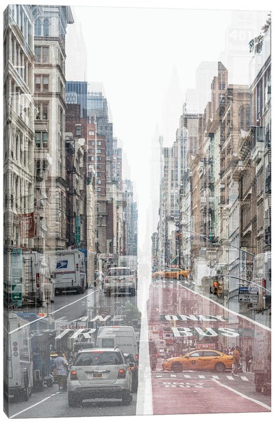 Urban Abstraction - Lane Canvas Art Print