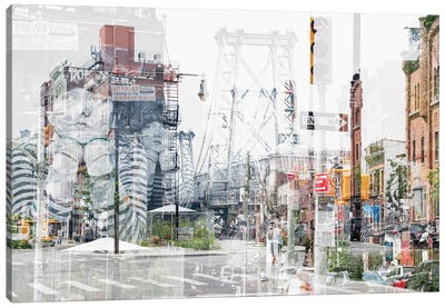 Urban Abstraction - Bedford Ave Canvas Art Print