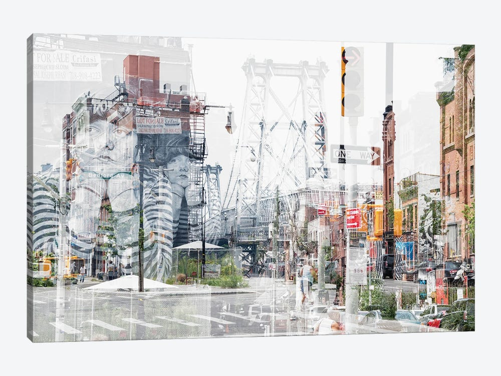 Urban Abstraction - Bedford Ave by Philippe Hugonnard 1-piece Art Print