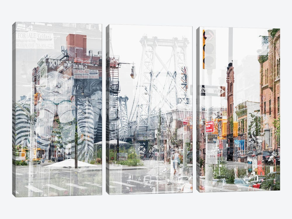 Urban Abstraction - Bedford Ave by Philippe Hugonnard 3-piece Canvas Art Print