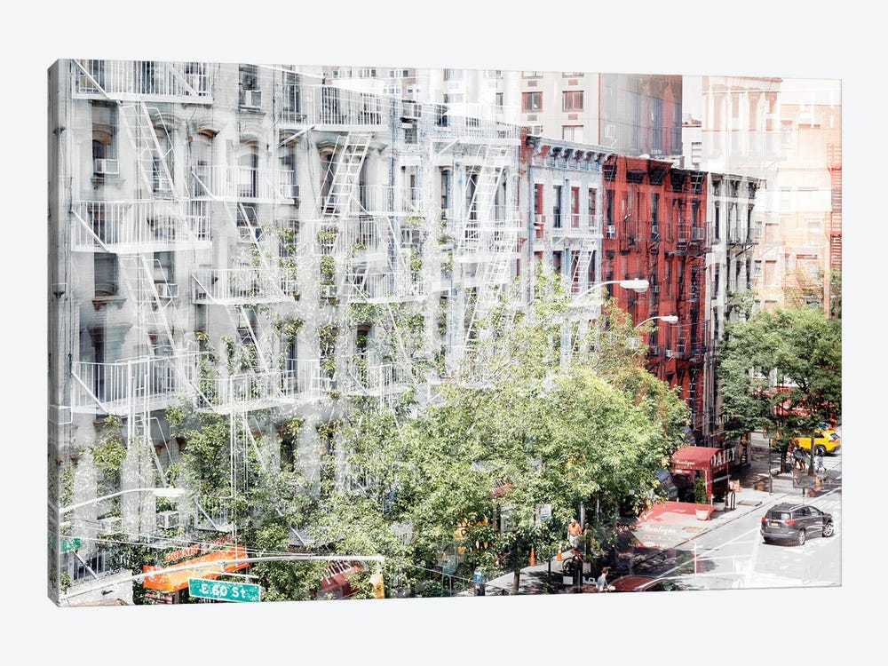 Urban Abstraction - NYC Facades by Philippe Hugonnard 1-piece Canvas Wall Art
