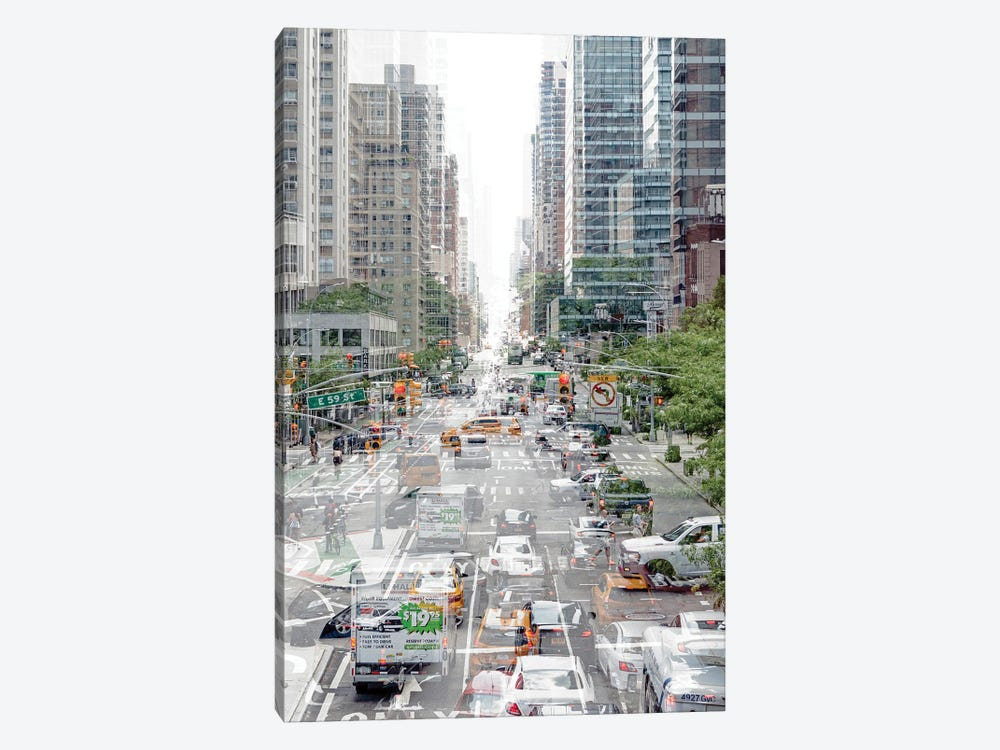 Urban Abstraction - Road Traffic by Philippe Hugonnard 1-piece Canvas Print