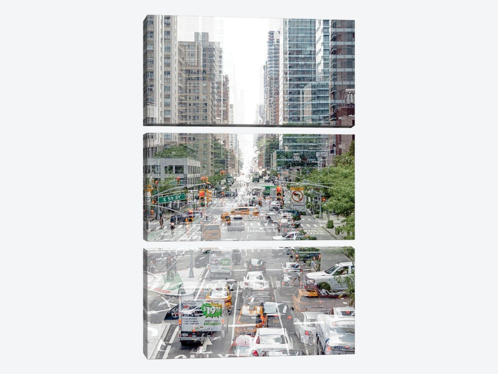 Urban Abstraction - Road Traffic by Philippe Hugonnard 3-piece Art Print