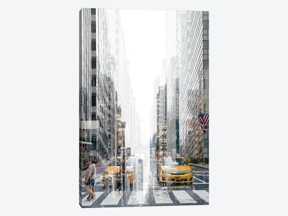 Urban Abstraction - Yellow Cabs by Philippe Hugonnard 1-piece Canvas Wall Art