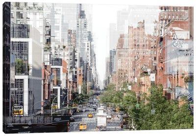 Urban Abstraction - Manhattan Buildings Canvas Art Print