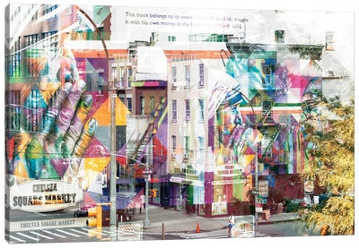 Urban Abstraction - Chelsea Square Market Canvas Art Print