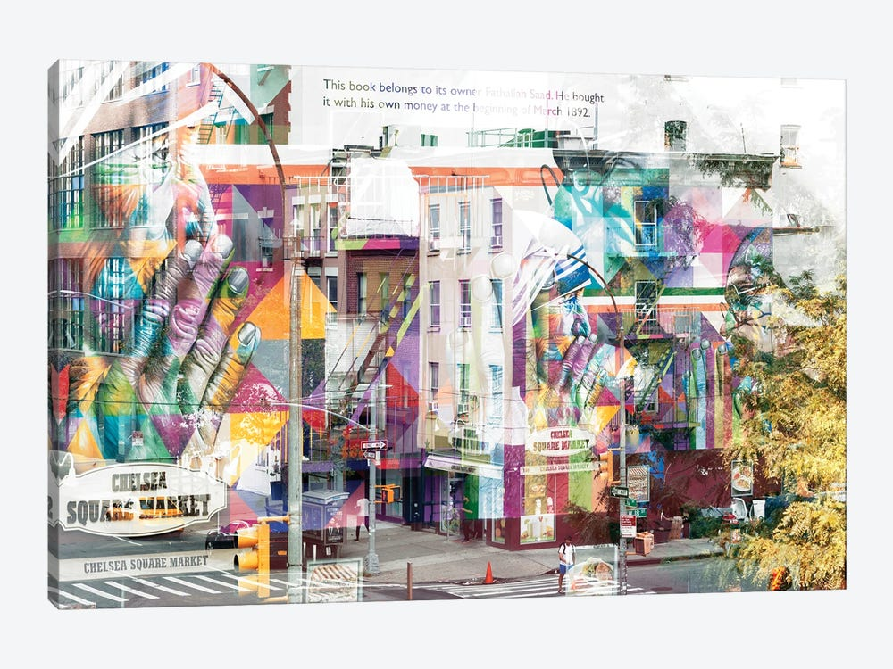 Urban Abstraction - Chelsea Square Market by Philippe Hugonnard 1-piece Canvas Artwork