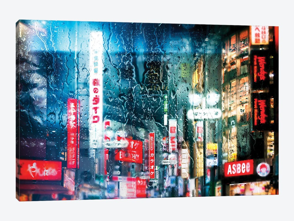 Behind The Window - Shibuya District by Philippe Hugonnard 1-piece Canvas Art Print