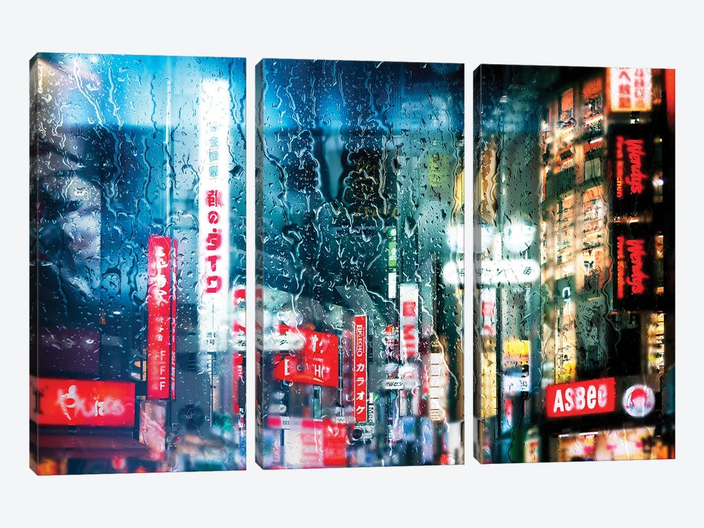 Behind The Window - Shibuya District by Philippe Hugonnard 3-piece Canvas Print