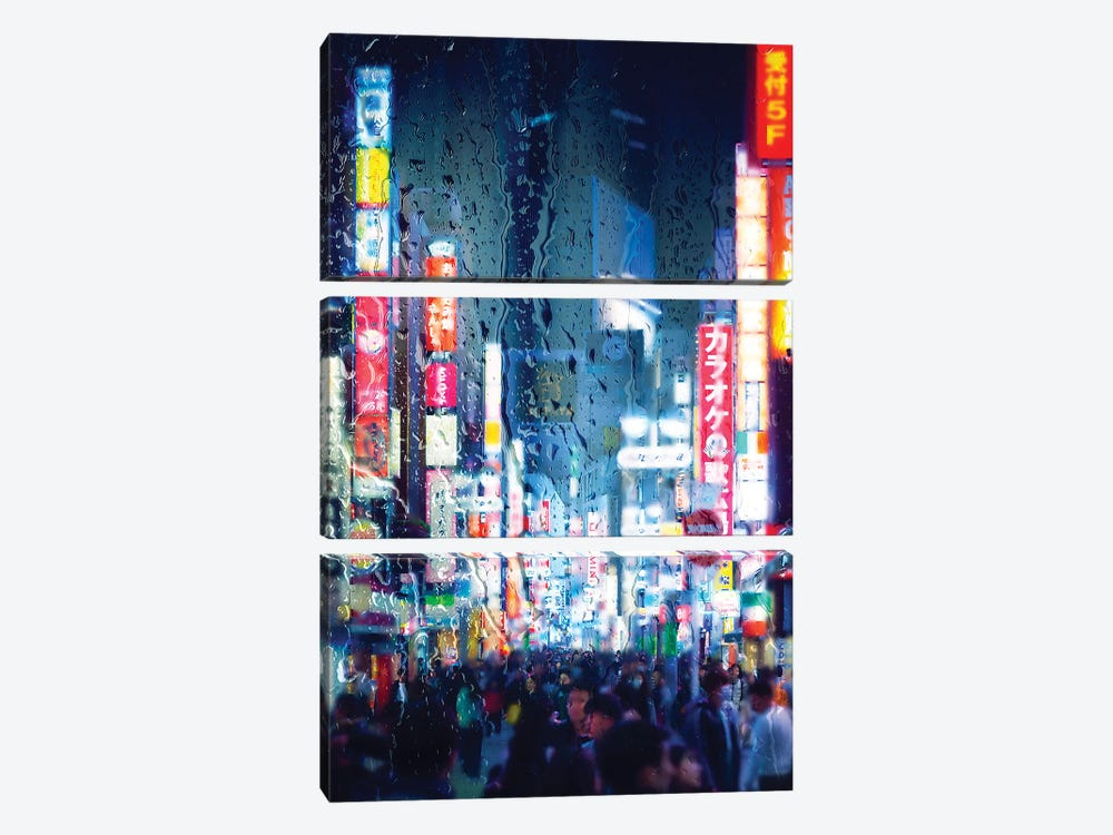 Behind The Window - Midnight Blue by Philippe Hugonnard 3-piece Canvas Print