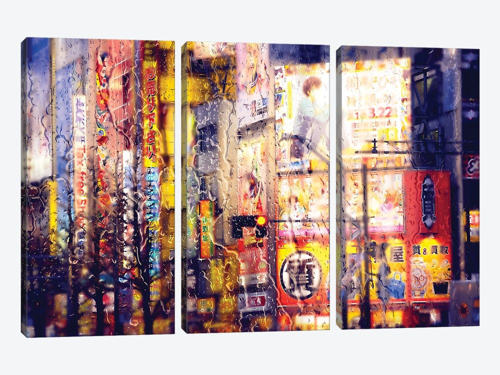 Behind The Window - Electronic District by Philippe Hugonnard 3-piece Canvas Artwork