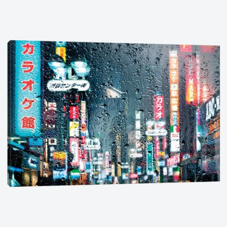 Behind The Window - Shibuya Tokyo Canvas Print #PHD1459} by Philippe Hugonnard Canvas Art
