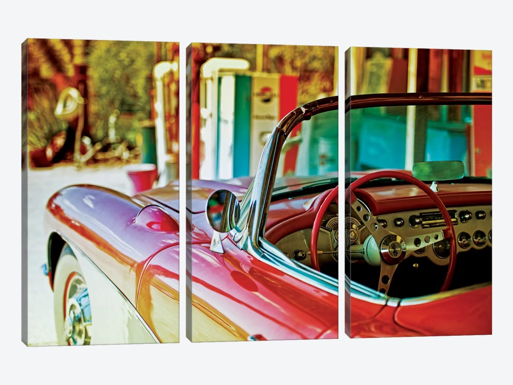 Classic Chevrolet Corvette by Philippe Hugonnard 3-piece Canvas Wall Art