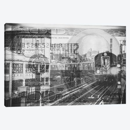 Manhattan Dollars - Line 7 NYC Canvas Print #PHD1460} by Philippe Hugonnard Canvas Print